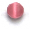 Cat Eye Bead 6mm Facet Dark Pink Fiber Optic